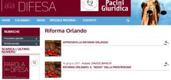 """Riforma Orlando: i commenti di """"Parola alla Difesa"""""""