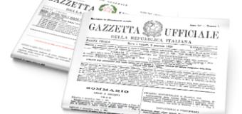Pubblicata in Gazzetta Ufficiale la Legge n. 36/19