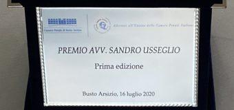 """Premiazione prima edizione """"Premio Avv.  Sandro Usseglio"""""""